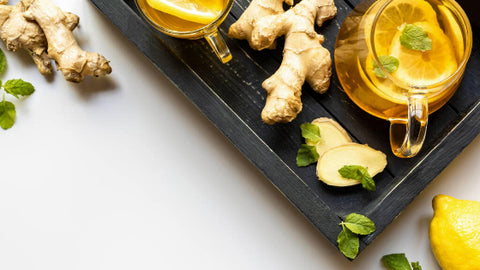 natural remedies and teas for migraines and headaches- ginger tea