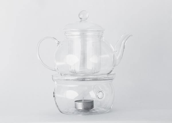 Glass Teapot 600ml with Teapot Warmer Accessories Life Of Cha