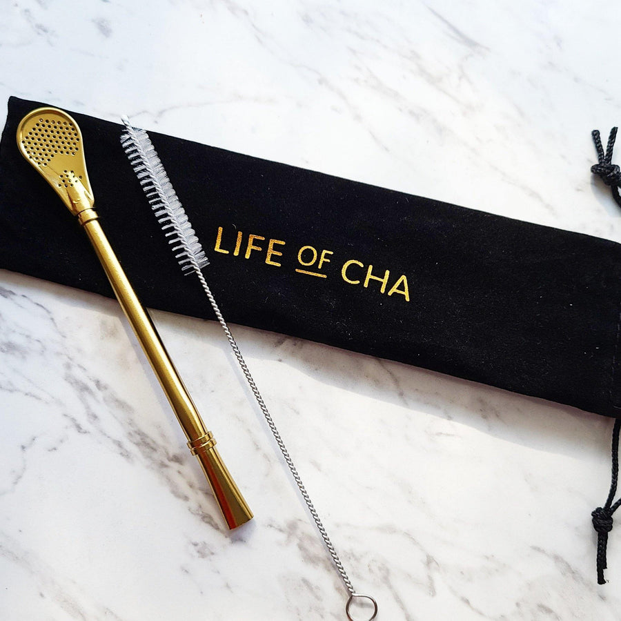 Gold Tea Straw Set Accessories Life Of Cha