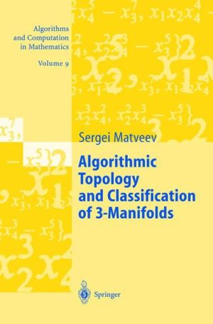 Algorithmic Topology and Classification of 3-Manifolds - ABC Books