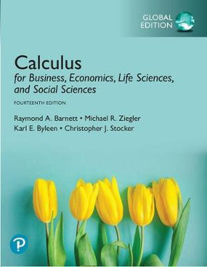 Calculus for Business, Economics, Life Sciences, and Social Sciences, Global Edition, 14e
