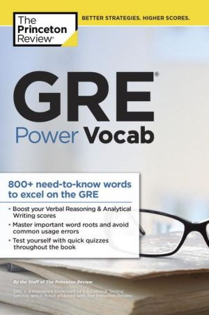 GRE Power Vocab ( Graduate School Test Preparation ) - ABC Books