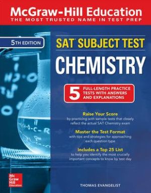 McGraw-Hill Education SAT Subject Test Chemistry, 5th Edition