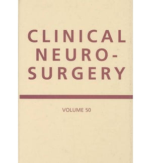 CLINICAL NEUROSURGERY VOLUME 50 - ABC Books