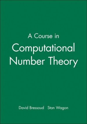 A Course in Computational Number Theory (WSE)