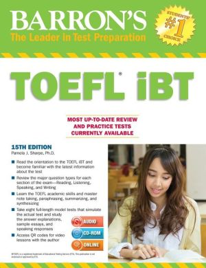 Barron's TOEFL iBT [With CDROM and MP3] 15e