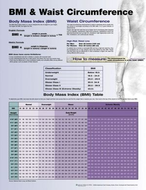 BMI and Waist Circumference Chart - ABC Books