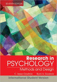 Research in Psychology - Methods and Design 7e International Student Version (WIE) - ABC Books