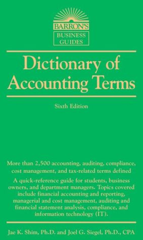 Dictionary of Accounting Terms - ABC Books