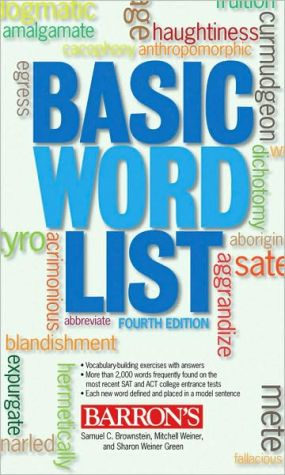 Basic Word List - ABC Books