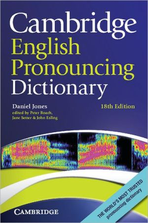 Cambridge English Pronouncing Dictionary, 18E - ABC Books