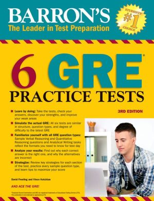 Barron's 6 GRE Practice Tests, 3rd Edition - ABC Books