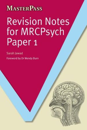 MasterPass: Revision Notes For MRCpsych Paper 1 - ABC Books