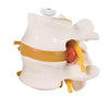 2 Lumbar Vertebrae with prolapsed disc, flexibly mounted - ABC Books