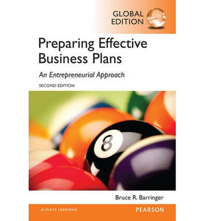 Barringer: Preparing Effective Business Plans: An Entrepreneurial Approach, Global Edition, 2e - ABC Books