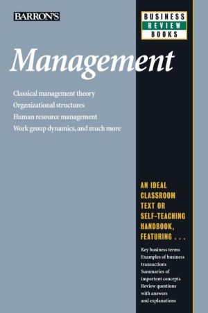 Barron's Business Review: Management 5E - ABC Books