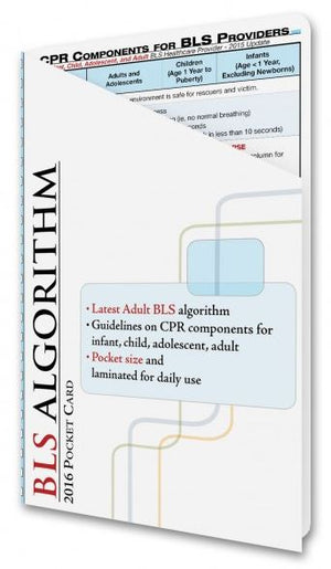 Adult Basic Life Support Card (BLS Algorithm) - ABC Books