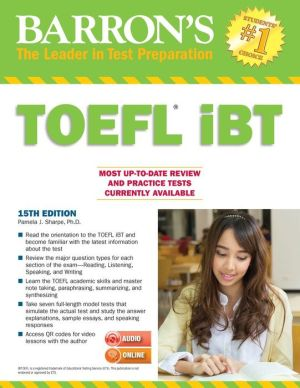 Barron's TOEFL iBT [With Audio CD-ROM and MP3] 15e