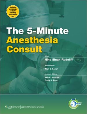 5-Minute Anesthesiology Consult - ABC Books