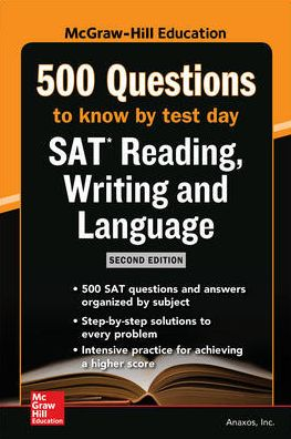 McGraw Hills 500 SAT Reading, Writing and Language Questions to Know by Test Day 2ed - ABC Books