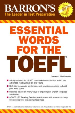 Essential Words for the TOEFL: Test of English as a Foreign Language - ABC Books