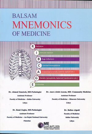 Balsam Mnemonics of Medicine - ABC Books