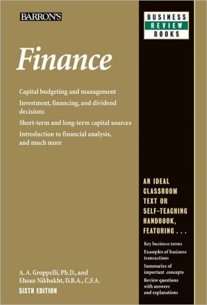 Barron's Business Review: Finance 6E - ABC Books