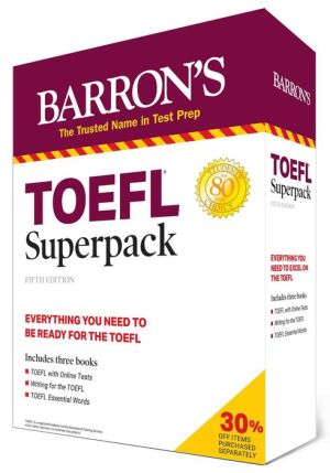 TOEFL Superpack: 3 Books + Practice Tests + Audio Online (Barron's Test Prep), 5e
