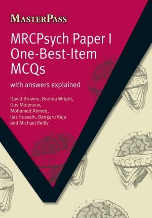MasterPass: MRCpsych Paper I One-Best-Item MCQs - ABC Books