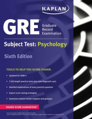 GRE Subject Test: Psychology ( Kaplan Test Prep ), 6e - ABC Books