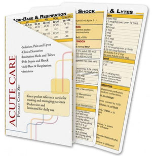 Acute & Critical Care Cards - ABC Books