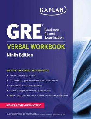 GRE Verbal Workbook ( Kaplan Test Prep ), 9e - ABC Books