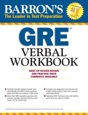 Barron's GRE Verbal Workbook, 3rd Edition - ABC Books
