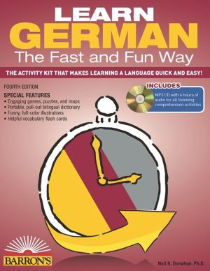 Learn German the Fast and Fun Way [With German-English and MP3] ( Fast & Fun Way ), 4e - ABC Books