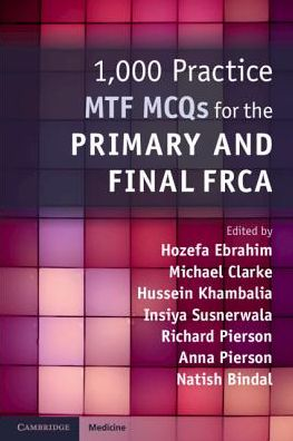 1,000 Practice MTF MCQs for the Primary and Final FRCA - ABC Books