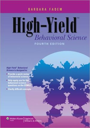 High-Yield Behavioral Science, 4E