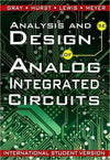 Analysis and Design of Analog Integrated Circuits 5e International Student Version (WIE) - ABC Books