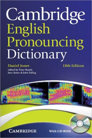 Cambridge English Pronouncing Dictionary: with CD-ROM, 18E - ABC Books