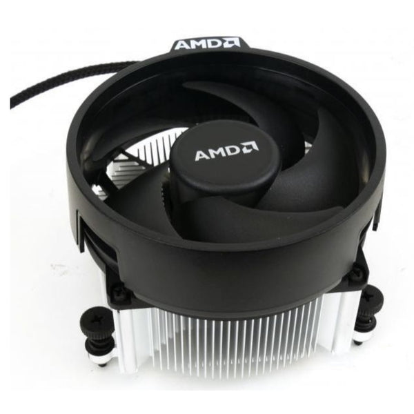 AMD Wraith Spire Socket AM4 4-Pin Connector CPU Cooler With Copper Core Base & Aluminum Heatsink & 4.05-Inch Fan With Pre-Applied Thermal Paste For Desktop PC Computer