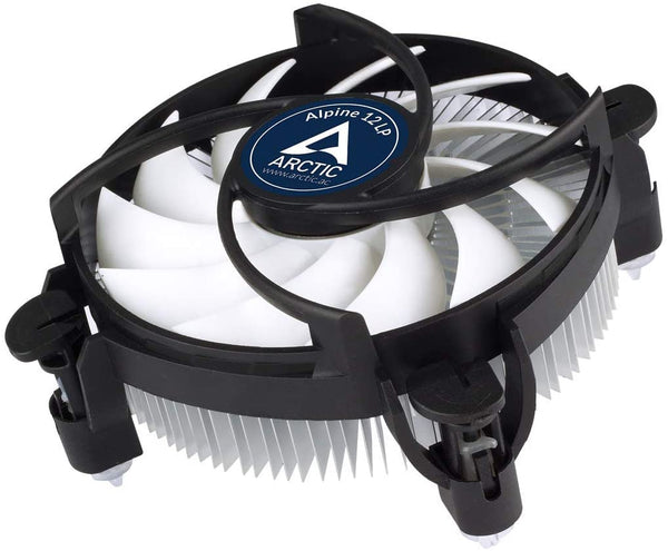 ARCTIC Alpine 12 LP Intel Core i3 i5 i7 Socket 1151 1150 1155 1156 4-Pin Connector CPU Cooler With Aluminum Heatsink & 3.62-Inch Fan With Pre-Applied MX-2 Thermal Paste For Desktop PC Computer