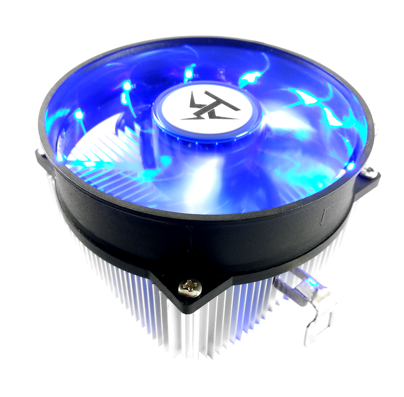 TRONWIRE TW-14 Blue LED AMD Socket AM3 AM2 1207 940 939 754 3-Pin Connector CPU Cooler With Aluminum Heatsink & Copper Core Base & 3.5-Inch Fan With Thermal Paste For Desktop PC Computer