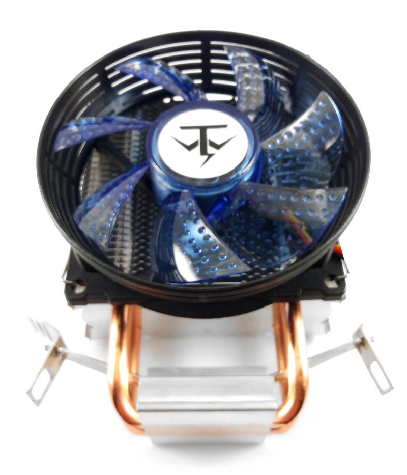 TRONWIRE TW-6 Intel AMD Socket 1151 1150 AM4 AM3 AM2 3-Pin Connector CPU Cooler With Aluminum Heatsink & 2 Built-In Copper Heatpipes & 3.5-Inch Fan With Thermal Paste For Desktop PC Computer