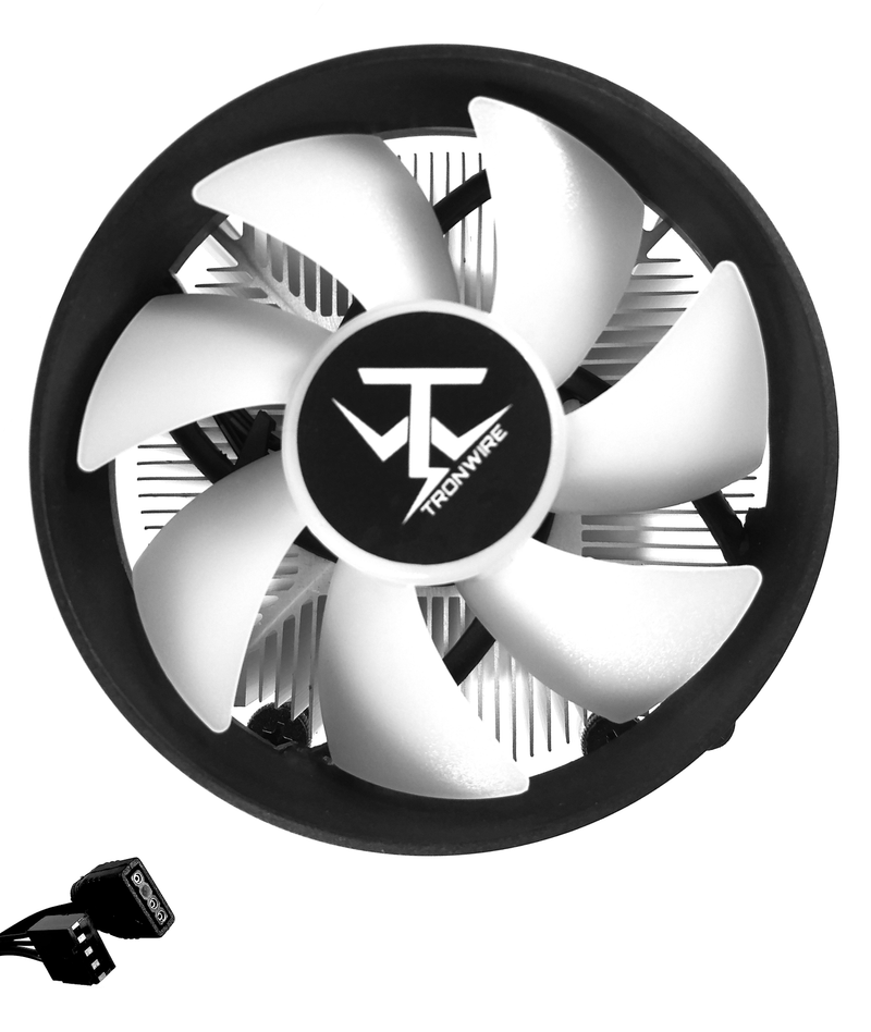 TRONWIRE TW-4 Intel Core i3 i5 i7 Socket 1151 1150 1155 1156 4-Pin Connector CPU Cooler With Aluminum Heatsink & 3.62-Inch Fan With Pre-Applied Thermal Paste For Desktop PC Computer