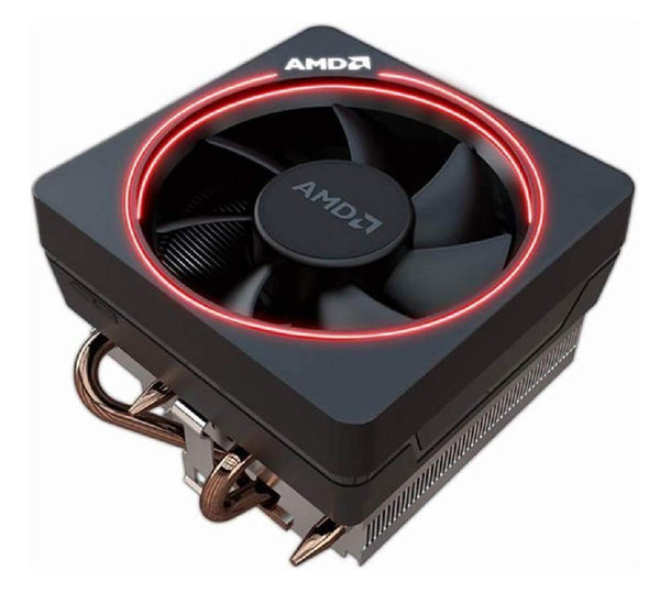 AMD Wraith Max RGB LED Lighting Socket AM4 4-Pin Connector CPU Cooler With Copper Core Base & Aluminum Heatsink & 4.13-Inch Fan With Pre-Applied Thermal Paste For Desktop PC Computer