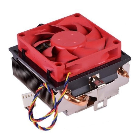 AMD Wraith Socket FM2 / FM1 / AM3 / AM2 / 1207 / 940 / 939 / 754 4-Pin Connector CPU Cooler With Aluminum Heatsink & Built-In Copper Heatpipes & 2.75-Inch Fan With Pre-Applied Thermal Paste For Desktop PC Computer