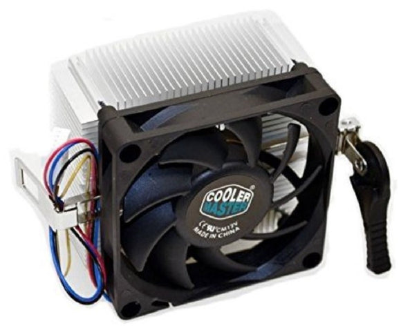 Cooler Master AMD Socket FM2 / FM1 / AM3 / AM2 / 1207 / 940 / 939 / 754 4-Pin Connector CPU Cooler With Aluminum Heatsink & 2.75-Inch Fan With Pre-Applied Thermal Paste For Desktop PC Computer