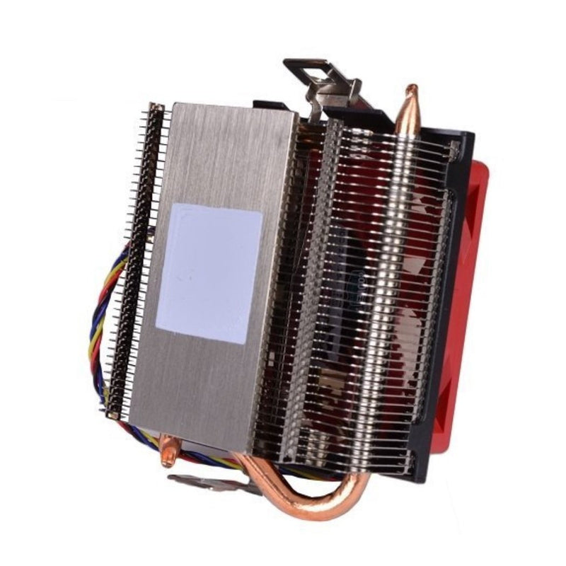 AMD Socket FM2 FM1 AM3 AM2 1207 940 939 754 4-Pin Connector CPU Cooler With Aluminum Heatsink & Built-In Copper Heatpipes & 2.75-Inch Fan With Pre-Applied Thermal Paste For Desktop PC Computer