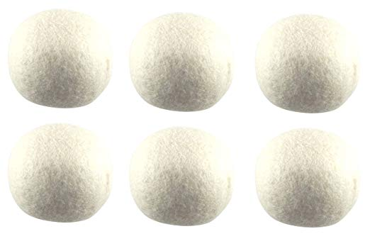 TRONWIRE 6-Pack Premium XL 100% Pure Organic New Zealand Wool Dryer Balls - Natural Fabric Softener, Reusable, Saves Drying Time