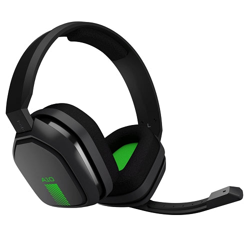 Logitech Astro A10 Wired Gaming Headset With Boom Microphone & 3.5mm Plug - Gray/Green