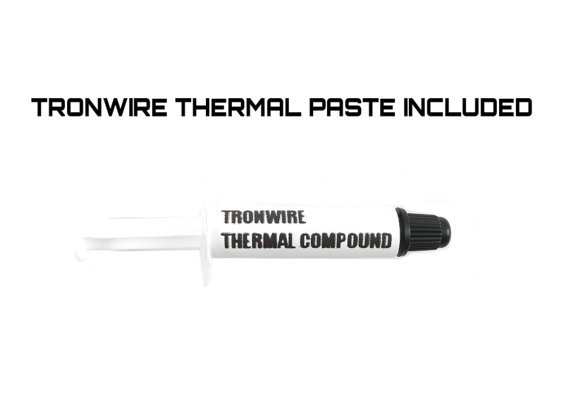 TRONWIRE TW-22 Intel Core i3 i5 i7 Socket 1151 1150 1155 1156 4-Pin PWM Connector CPU Cooler With Aluminum Heatsink & 3.5-Inch Fan With TRONWIRE Thermal Paste For Desktop PC Computer